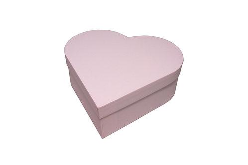 Srdce průměr 23 v 8 cm světle růžová mat