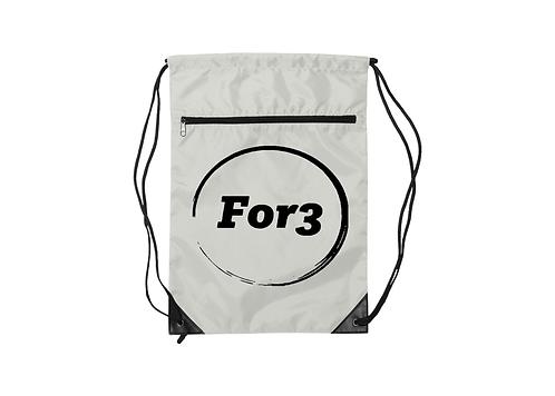 For3 Nylon Zippered Drawstring Serkel Backpack