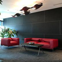 Trend Micro Reception Wating Area in Swiss Tower, JLT, Dubai