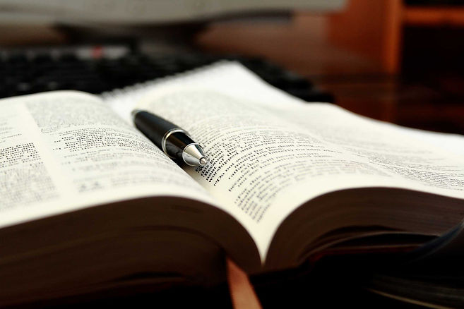 opened-bible-for-bible-study-in-library-