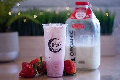 Strawberry Milk Bar with Straus Milk