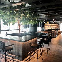Trend Micro Lounge Area with Customized Tree Table