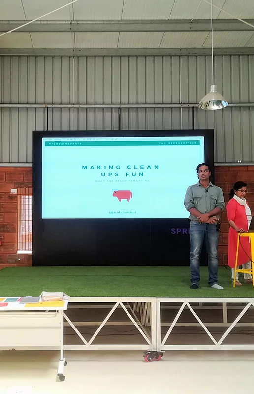 Speaking at the Design Barn in Bangalore