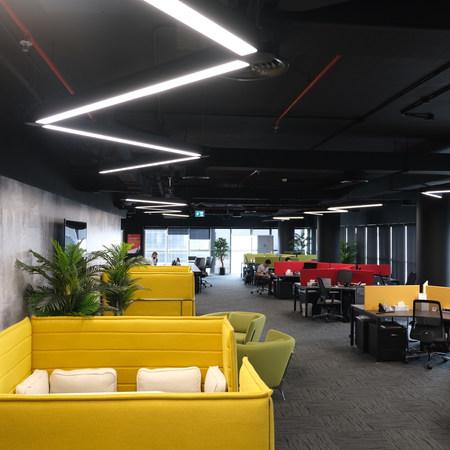 Trend Micro Open Office Area in Swiss Tower, JLT, Dubai