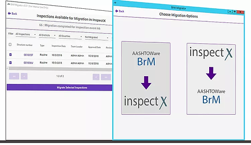 inspectX to BrM migrator software