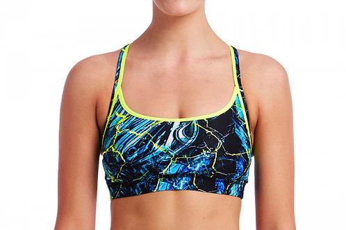 Funkita Swimwear Ladies Midnight Marble Sports Top