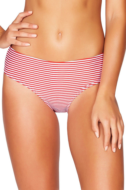 Sea Level Australia Swimwear Sorrento Stripe Mid Bikini Pant