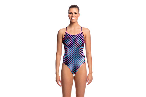 Funkita Ladies Miss Freckle Diamond Back One Piece Swimsuit