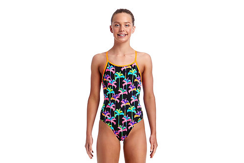 Funkita Swimwear Girls Palm Drive Diamond Back One Piece Swimsuit