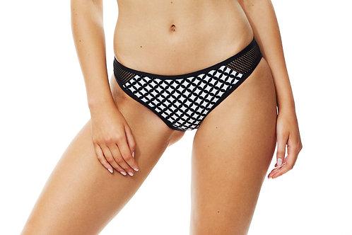 Piha Swimwear Geometric Mesh Hipster Pant
