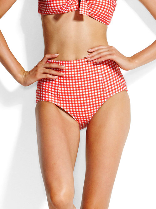 Seafolly Swimwear Capri Check High Waisted Bikini Pant