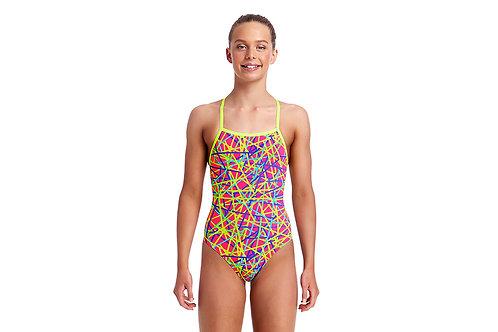 Funkita Swimwear Girls Bound Up Strapped In One Piece Swimsuit