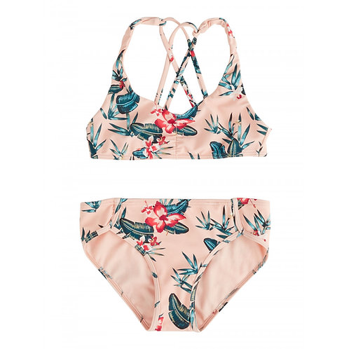 Roxy Girls Tropi Sporty Tri Bikini Set