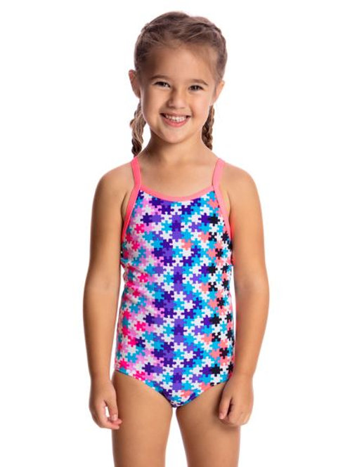 Funkita Party Pieces Toddler Girls One Piece Swimsuit