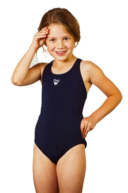Finz Girls Solid Maxback One Piece Swimsuit