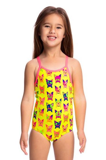 Funkita Hot Diggity Toddler Girls One Piece Swimsuit