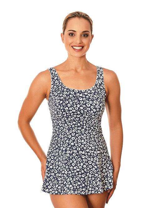 Femme de la Mer Swimwear Chlorine Resistant Posie Blue Lauren Swimdress