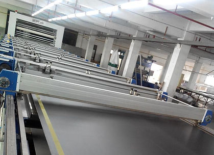 Wide and Long Screen Printing Blanket after Installation