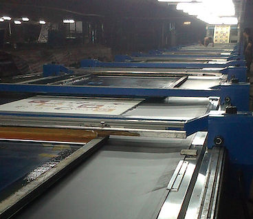 Textile Printing Blanket in Use on a Flatbed Printer to Produce Flower Pattern