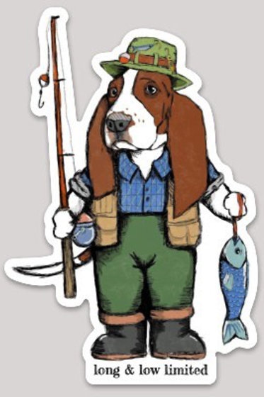 """BASSet Fishing"" Matte Die Cut Sticker"