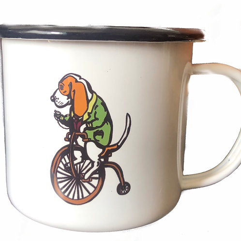 """High Wheel"" 8 oz Coffee Mug"