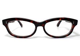 眼鏡ノ奥山のセルロイドメガネフレーム048-AAの正面画像