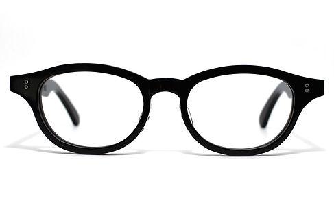 眼鏡ノ奥山のセルロイドメガネフレーム068-BBの正面画像