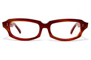 眼鏡ノ奥山のセルロイドメガネフレーム049-FFの正面画像