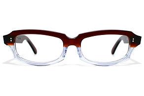 眼鏡ノ奥山のセルロイドメガネフレーム049-CⅡCの正面画像