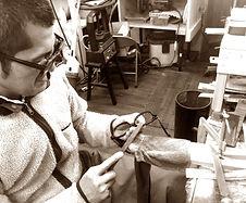セルロイド眼鏡メーカーRUISMのメガネが仕上がるまでの作業工程のご紹介ページ