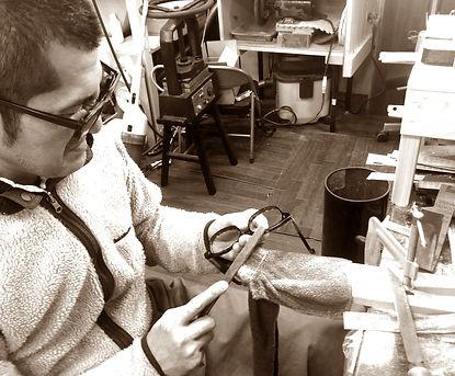 セルロイドメガネRUISMの新規お取引先様の募集ページの眼鏡制作イメージ画像