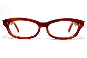 眼鏡ノ奥山のセルロイドメガネフレーム048-FFの正面画像