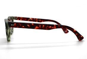 眼鏡ノ奥山のセルロイドサングラス004-EAの横画像メガネとしても使用可能