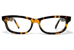 眼鏡ノ奥山のセルロイドメガネフレーム050-バフの正面画像