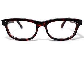 眼鏡ノ奥山のセルロイドメガネフレーム050-AAの正面画像