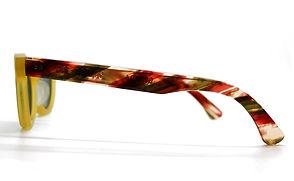 眼鏡ノ奥山のセルロイドサングラス004-YNの横画像メガネとしても使用可能