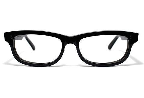 眼鏡ノ奥山のセルロイドメガネフレーム050-BBの正面画像