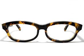 眼鏡ノ奥山のセルロイドメガネフレーム048-バフの正面画像