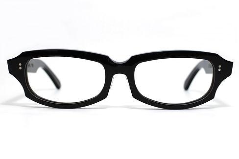 眼鏡ノ奥山のセルロイドメガネフレーム049-BBの正面画像