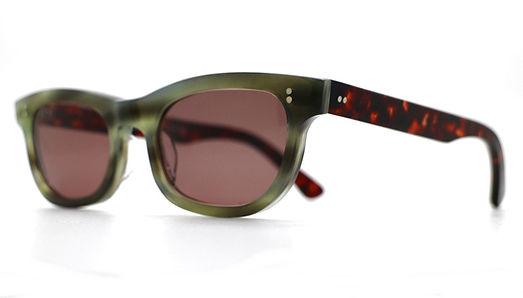 眼鏡ノ奥山のセルロイドサングラス004-EA、メガネとしても使用可能です