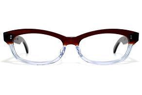 眼鏡ノ奥山のセルロイドメガネフレーム048-CⅡCの正面画像