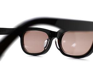 眼鏡ノ奥山のセルロイドサングラス004-BBの背面画像メガネとしても使用可能