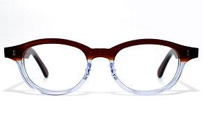 眼鏡ノ奥山のセルロイドメガネフレーム068-CⅡCの正面画像