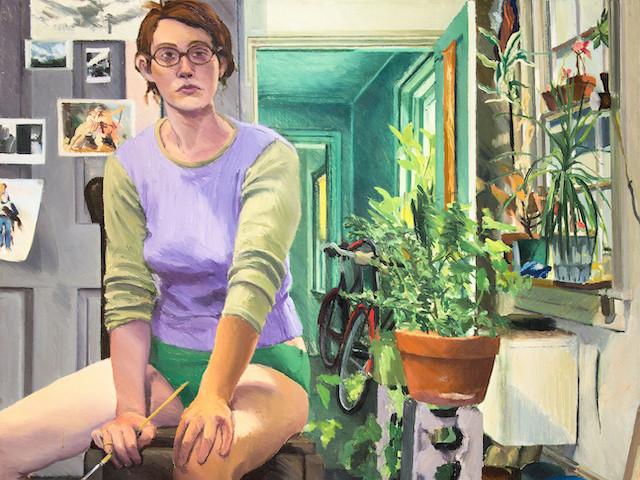"""Self-Portrait"" by Edith Neff., 1971, is part of the Our Town exhibit opening at the Woodmere Art Museum on Sept. 21. The painting was a gift to the museum from Dr. Barbara Torpie and Dr. Richard Torpie."