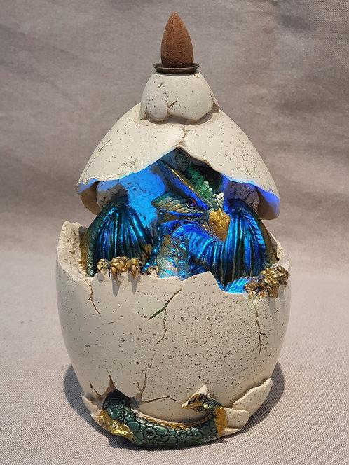 Dragon in egg light up backflow cone Incense Burner