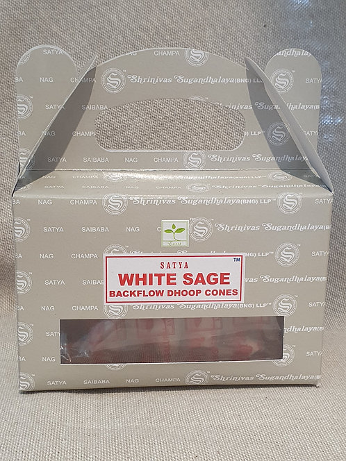 White Sage backflow cones 24 pack