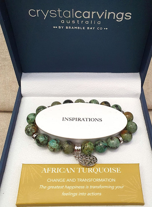 African Turquoise Tree of Life Bracelet