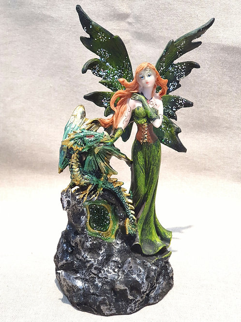 Green Fairy with dragon
