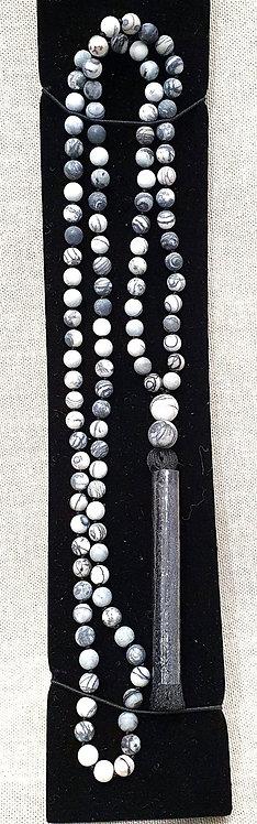 Zebra Matrix 108 Mala Beads