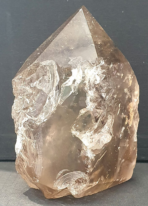 Smokey quartz semi polished point